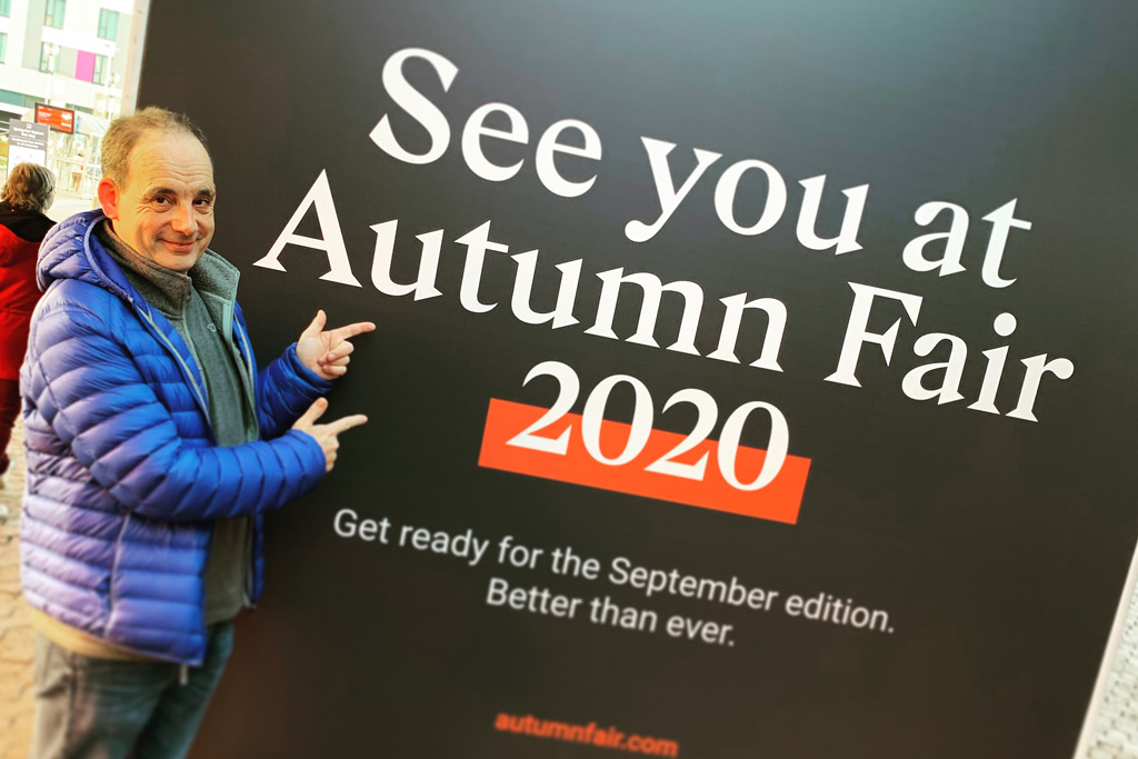 Mark looking forward to the Autumn Fair 2020